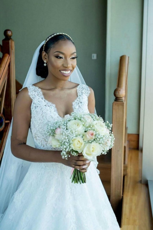 arabic african bride dress beaded lace wedding dresses long train v neck bridal gowns china online s