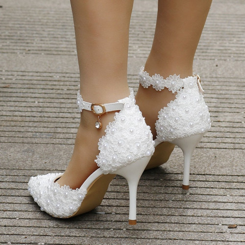 chaussures blanches femme mariage soirée blanche