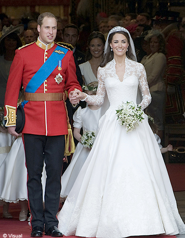 THE WEDDING OF PRINCE WILLIAM  AND KATE MIDDLETON  |
