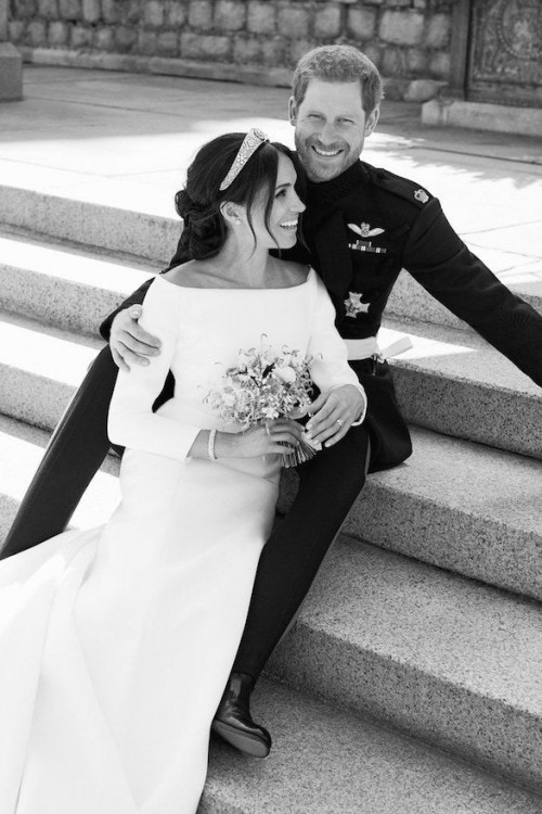 meghan markle and prince harry share never before seen photos of their wedding on instagram vogue pa