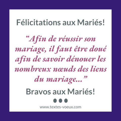 message mariage humour