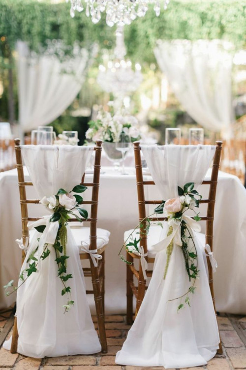 decoration chaise mariage champetre