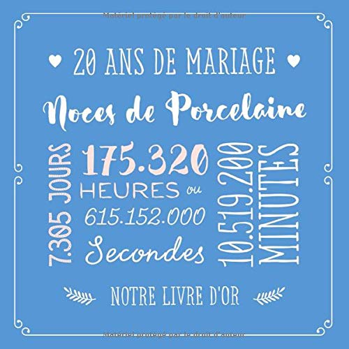 mariage 20 ans