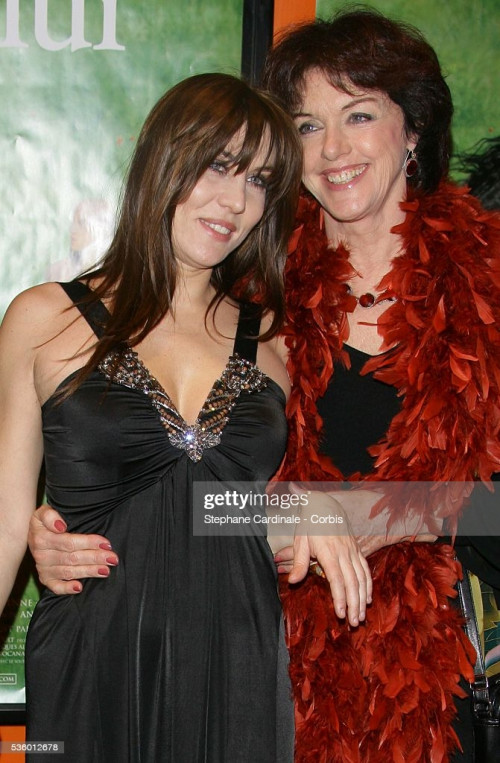 """Mathilde Seigner and Annie Duperey attend the premiere of """"Danse Avec Lui"""" in Paris. (Photo by Steph"""