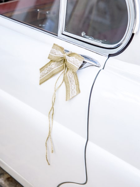 noeud voiture mariage champetre