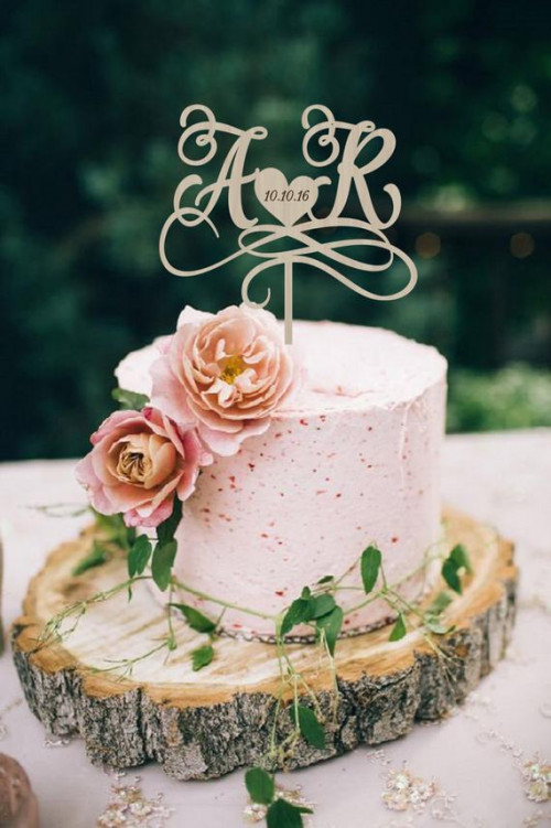 wedding cake topper initials cake topper personalized wedding etsy